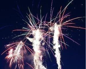 Feuerwerk Burg Warberg
