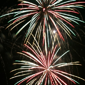 Feuerwerk Weihnachtsfeier