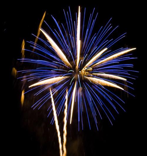 Feuerwerk im Salzlandkreis
