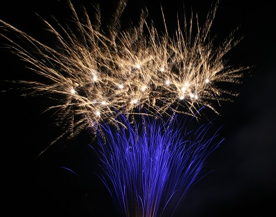 Feuerwerk in Nordhausen in Thüringen